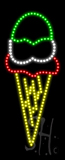 Ice Cream Logo Animated LED Sign