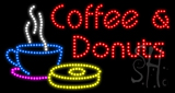 Coffee and Donuts Animated LED Sign