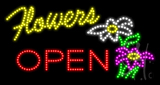 Flowers Open Animated LED Sign