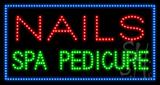 Nails Spa Pedicure Animated LED Sign