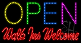 Open Walk Ins Welcome Animated LED Sign