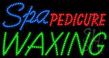 Spa Pedicure Waxing Animated LED Sign