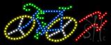 Bicycle Logo Animated LED Sign