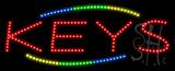 Keys Animated LED Sign