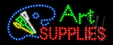Art Supplies Animated LED Sign