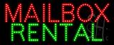Mailbox Rental LED Sign