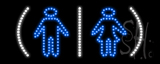 Restrooms Logo LED Sign