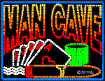 Mancave Cigar n Cards LED Sign