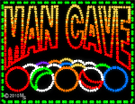 Man Cave Pool Animated LED Sign