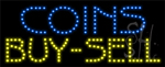 Coins Buy Sell LED Sign