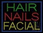 Hair Nails Facial LED Sign