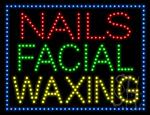Nails Facial Waxing LED Sign