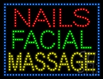 Nails Facial Massage LED Sign