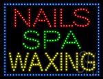 Nails Spa Waxing LED Sign