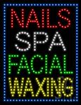 Nails Spa Facial Waxing LED Sign
