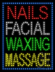Nails Facial Waxing Massage LED Sign