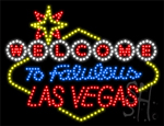 Welcome to Fabulous Las Vegas Contour Backing LED Sign