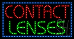 Contact Lenses LED Sign