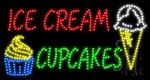 Ice Cream Cupcakes LED Sign
