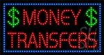 Money Transfers LED Sign
