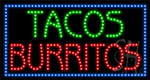 Tacos Burritos LED Sign
