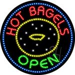 Hot Bagels LED Sign