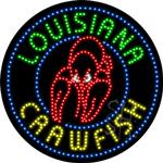 Louisiana Crawfish LED Sign