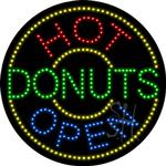Hot Donuts LED Sign