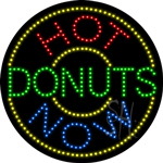 Hot Donuts Now LED Sign