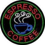 Espresso Coffee LED Sign