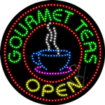 Gourmet Teas LED Sign