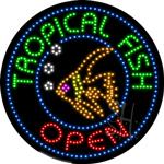 Tropical Fish LED Sign