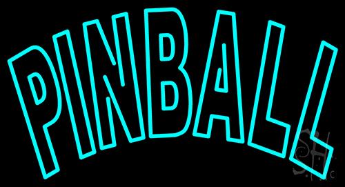 Tourquoise Pinball Neon Flex Sign
