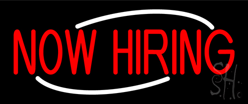 Now Hiring Red LED Neon Sign
