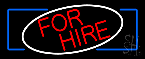 Round For Hire LED Neon Sign
