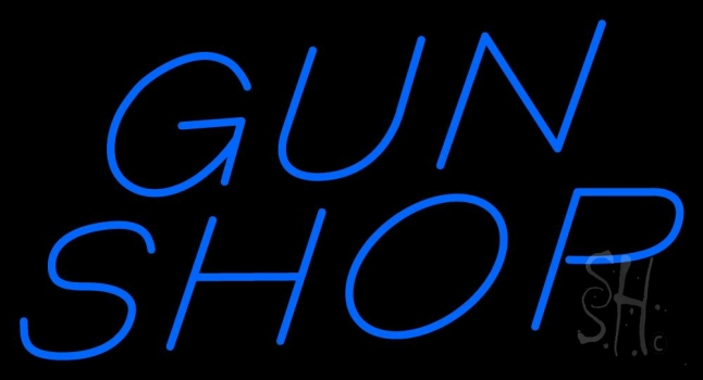 Blue Gun Shop Neon Sign Military Neon Signs The Sign Store