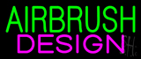 Green Airbrush Pink Design Neon Sign