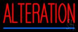 Red Alteration Blue Underline Neon Sign