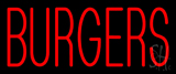 Red Burgers Neon Sign