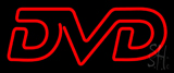 Red DVD Neon Sign