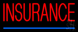 Red Insurance Blue Line Neon Sign