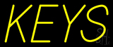 Yellow Keys Neon Sign