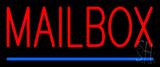 Mailbox Blue Line Neon Sign