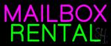 Pink Mailbox Green Rental Block Neon Sign