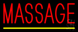 Red Massage Neon Sign