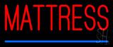 Red Mattress Blue Line Neon Sign