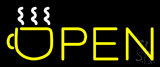 Open Coffee Glass Neon Sign