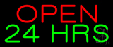 Open 24 Hrs Neon Sign
