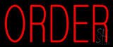Red Small Order Neon Sign