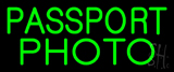 Passport Photo Block Neon Sign
